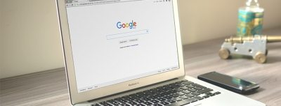 Google Screen on Laptop